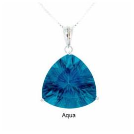 Tachyonizovaný Přívěsek Smělá Krása se světle-modrým krystalem