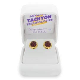 Tachyonizované náušnice zlaté zdobené 8mm - 4 druhů